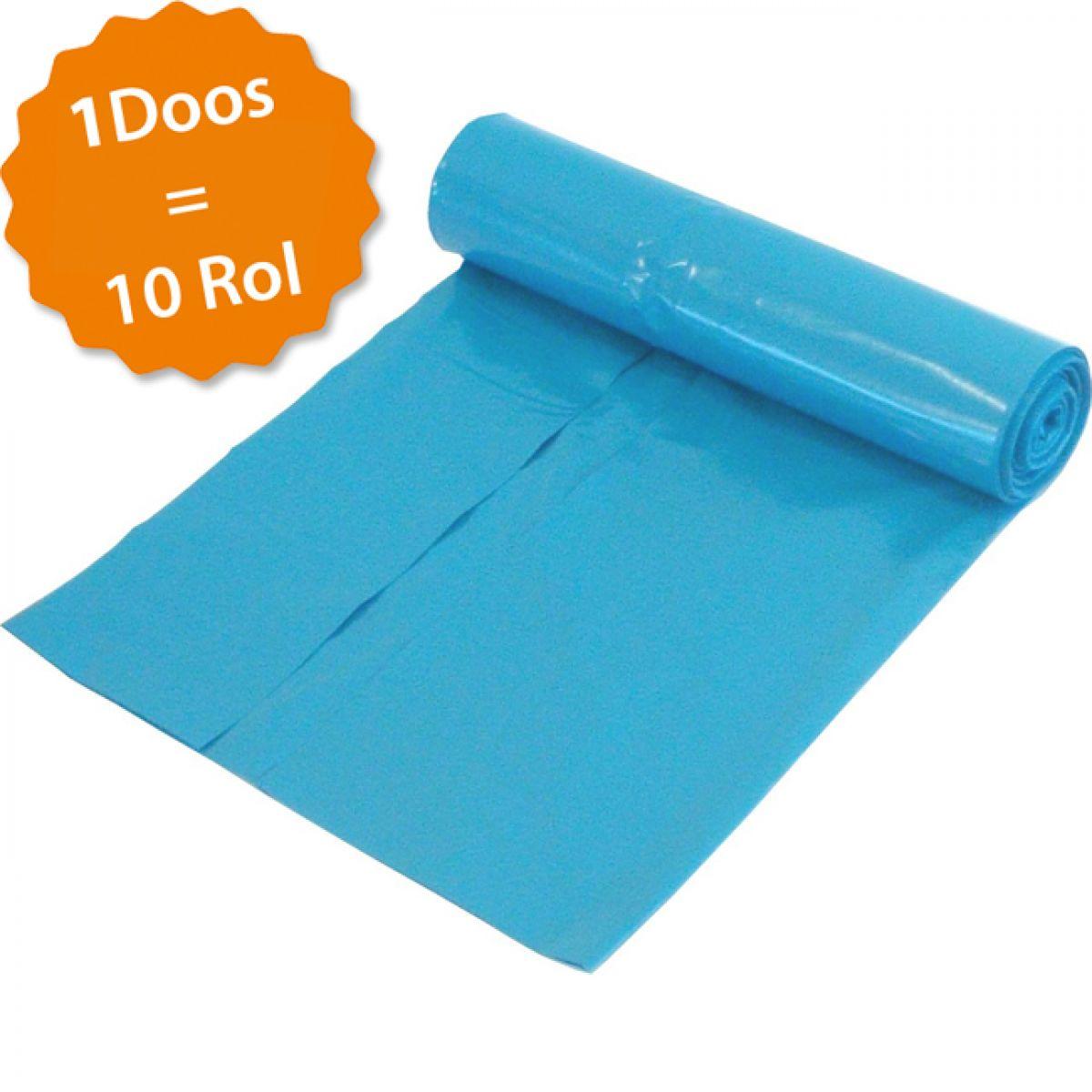Rol vuilniszakken 70x110 cm 20 st per rol kleur:blauw  doos